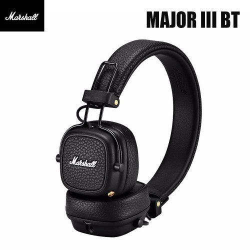 MARSHALL MAJOR III BT Headset with Mic Rechargeable Wireless Headphones BT Over Ear Headphones with 30H Playtime