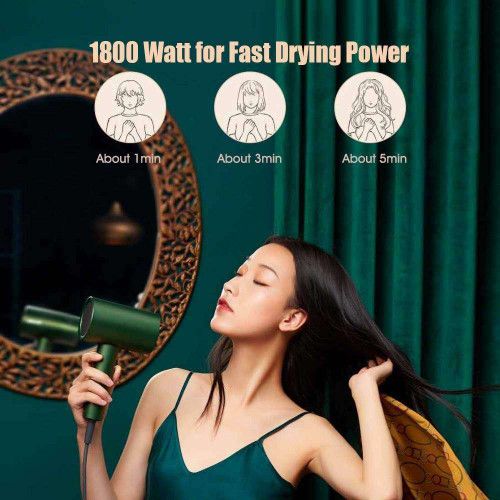ShowSee Hair Dryer Professional Negative Ionic Hair Blow Dryer with Constant Temperature