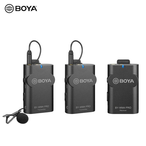 BOYA BY-WM4 Pro K2 Portable 2.4G Wireless Microphone SystemDual Transmitters One Receiver with Hard Case