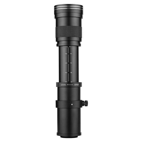 Camera MF Super Telephoto Zoom Lens F/8.3-16 420-800mm T Mount with Universal 1/4 Thread Replacement for Canon