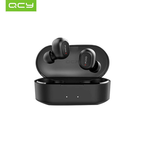 Global Version QCY T2C TWS BT Wireless Earphones with Dual Microphone 800mAh Charging Box Stereo BT Headsets
