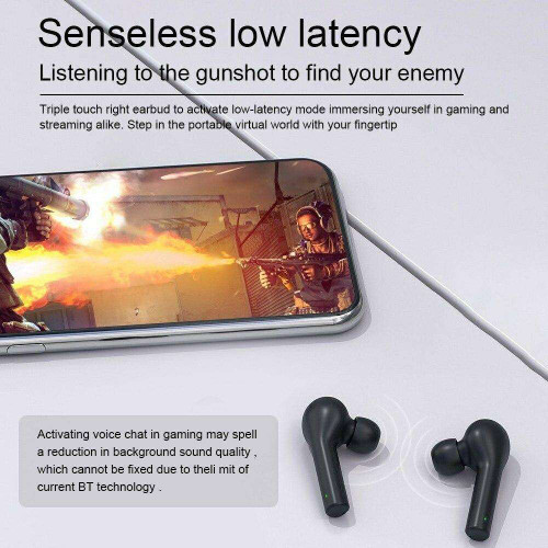 QCY T5 Bluetooth 5.1 TWS Earbuds True Wireless Headphones Popovers Fast Pairing Music Earphone Sports Headset