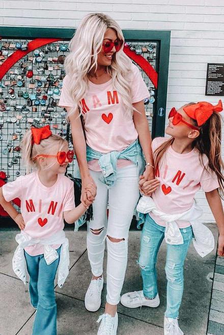 Pink MINI Matching Girls Tee