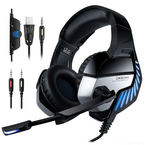 ONIKUMA K5 PRO Gaming Headset Noise Cancelling for PS4 Xbox Laptop Computer