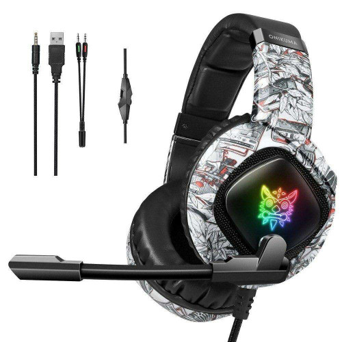 ONIKUMA K19 Gaming Headset Noise Canceling For PS4 Xbox PC 3.5mm Wired