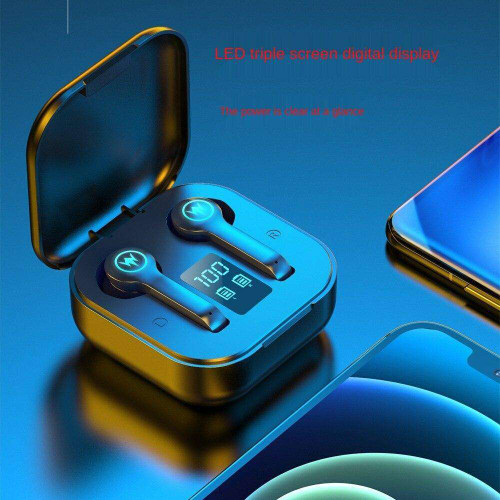 Long Life Wireless Headphones with Microphones Bluetooth 5.1 Earphone Sport Gaming Headset Strong Compatible IOS Android Phones