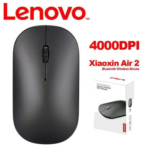 Lenovo Xiaoxin Air 2 4000DPI Wireless Mouse with CNC Polishing Bluetooth 4.0 Dual-Mode Mouse for Windows Lenovo Laptop
