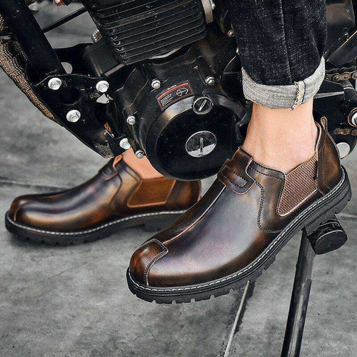New Chelsea Boots Men Fashion Casual Men Shoes British Male Ankle Boots