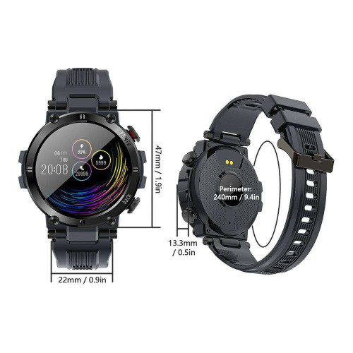 1.3in Smartwatch Full Touch Heart Rate Blood Pressure Detecting Multi-Sport Mode
