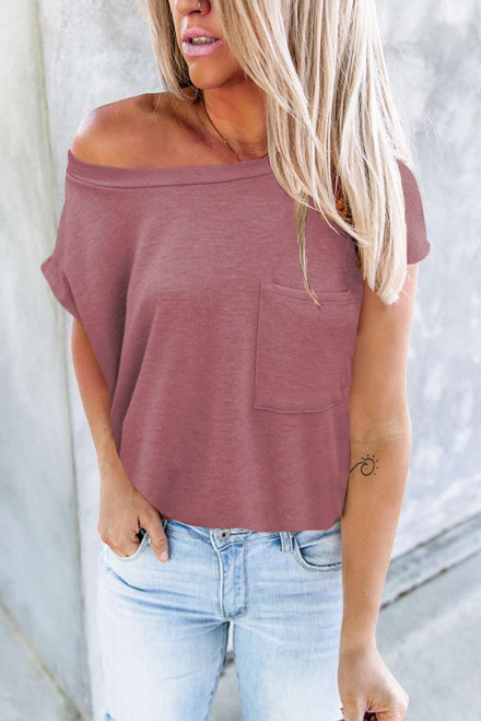 Pocketed Tee with Side Slits
