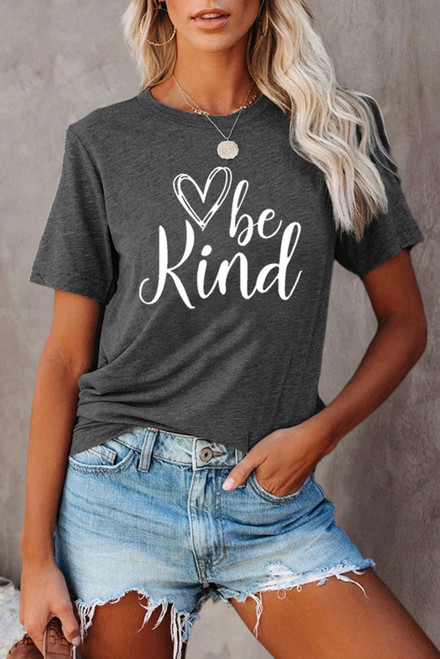 be kind Graphic Gray T-shirt