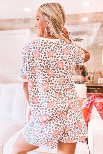 Lips Leopard Print Summer Lounge Set