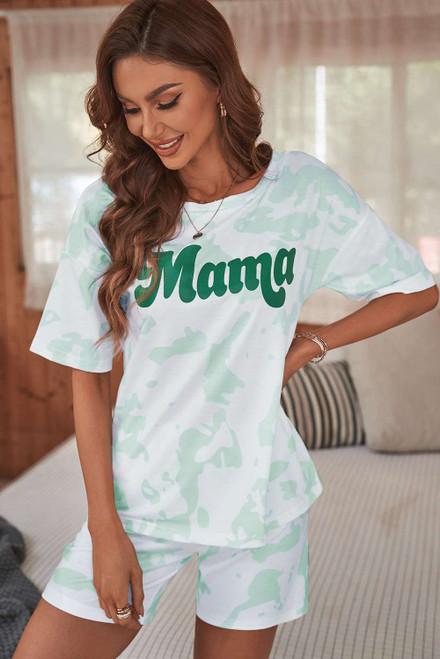 Mama Tie-dye Print Lounge Set