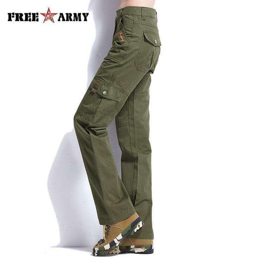Army Green Cargo Pants For Women New Cotton Female Casual