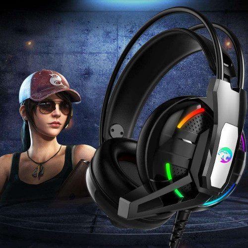 Joinrun Gaming Headphone Stereo Earphones Headset Earphones with Microphone for PC Mobile Phone Game Internet cafe