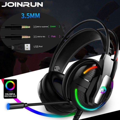 Joinrun wired Game Headphone Earphones Headset Stereo Headphones Earphones with Microphone for PC Mobile Phone