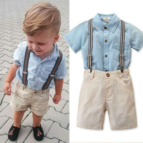 Baby Boy Clothing Set Pullover Clothes Solid Summer Toddler Baby Kids