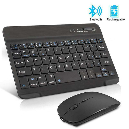 Wireless Keyboard and Mouse Bundle Mini Rechargeable bluetooth