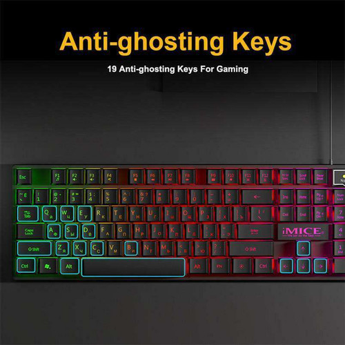 Gaming keyboard Wired Gaming Mouse Kit 104 Keycaps With RGB Backlight