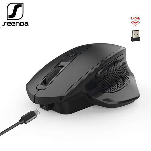 SeenDa Rechargeable 2.4G Wireless Mouse 6 Buttons Gaming Mouse