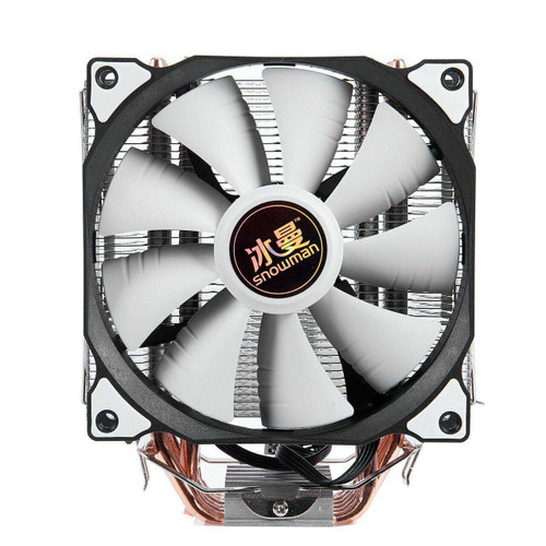 SNOWMAN 4 PIN CPU cooler 6 heatpipe Single and Double fan cooling
