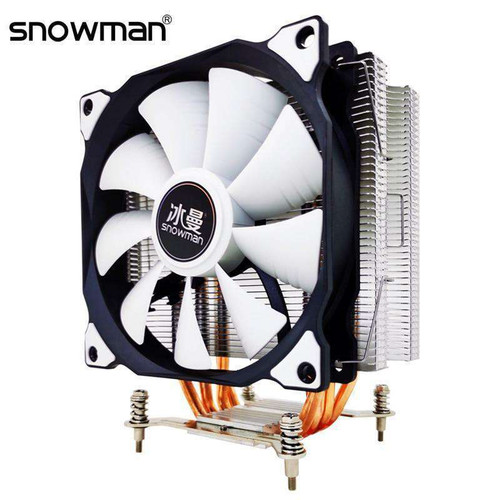 SNOWMAN 4 Heat Pipes CPU Cooler RGB 120mm PWM 4Pin PC quiet for Intel and AMD