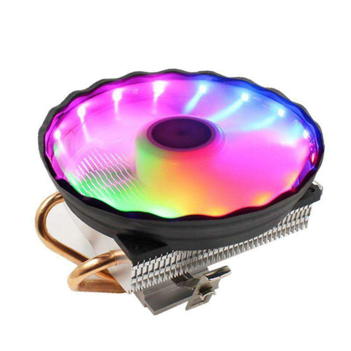 LANSHUO RGB LED CPU Cooling Fan 2 Heatpipe 12V Cooler 120mm Heat Sink Radiator for Intel and AMD