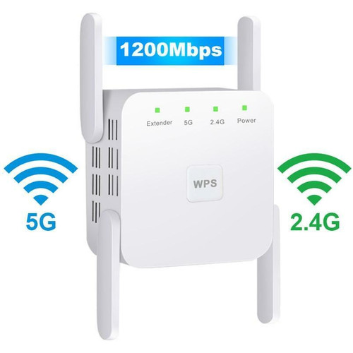 2.4G 5Ghz Wireless WiFi Repeater Wi Fi Booster 300M 1200 Mbps