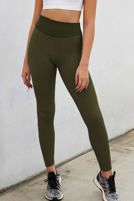 Light Green High Waisted Butt Lifting Yoga Gym Leggings