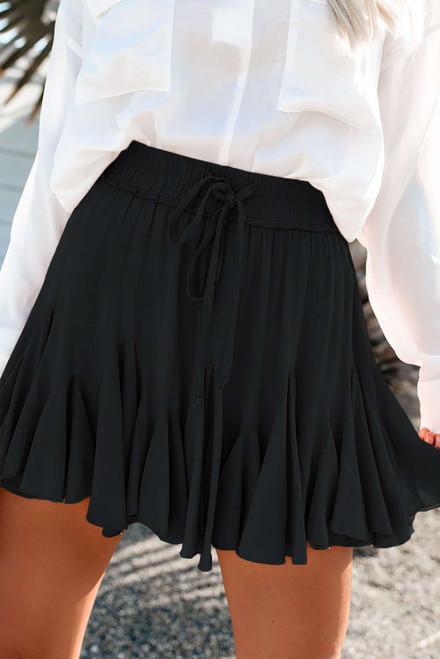 Black Korean High Waist Tutu Pleated Mini Skirt