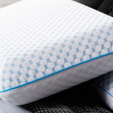 Weekender Gel Memory Foam Pillow with Reversible Cooling Cover