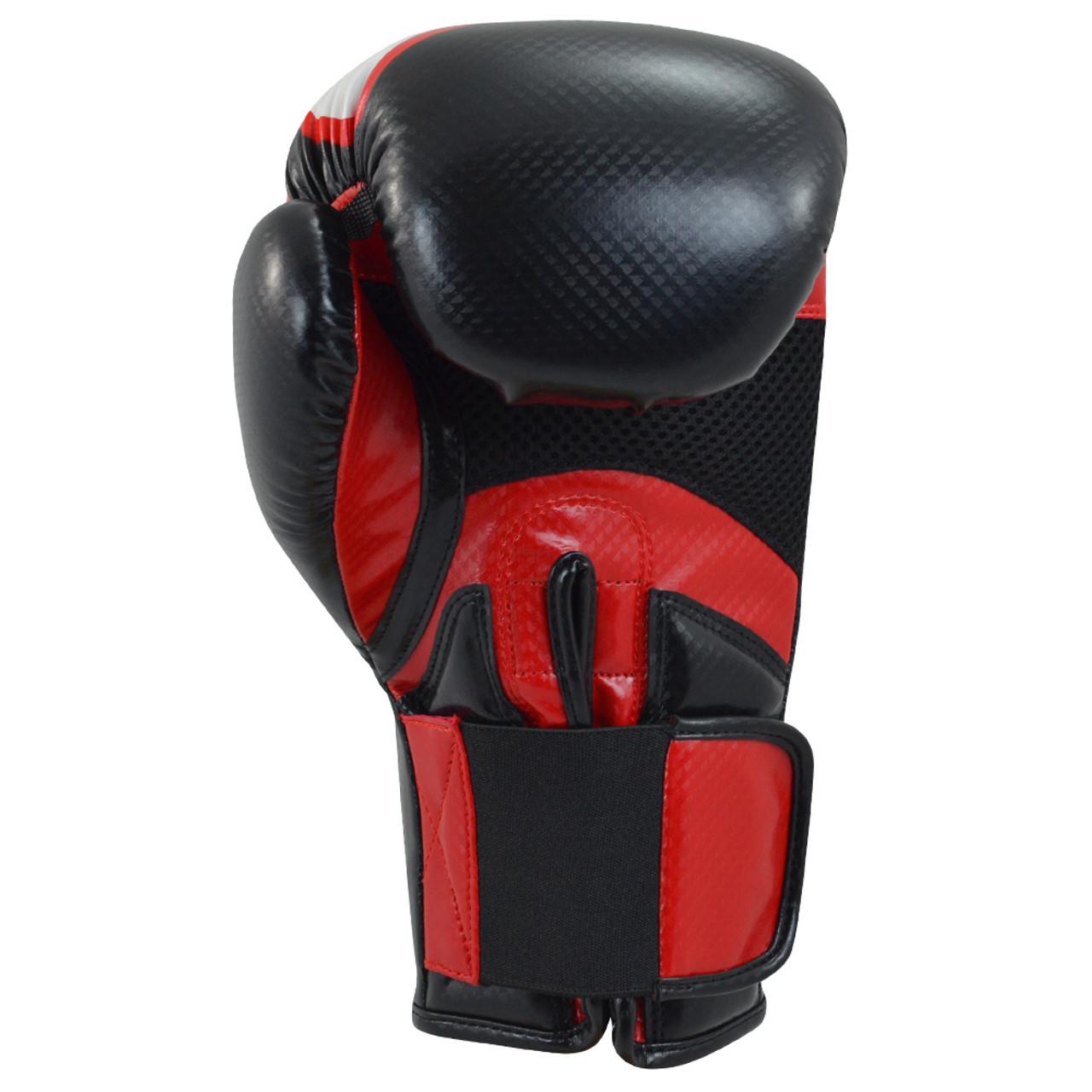 CR Turbo Black & Red Boxing Gloves - Combat Corner