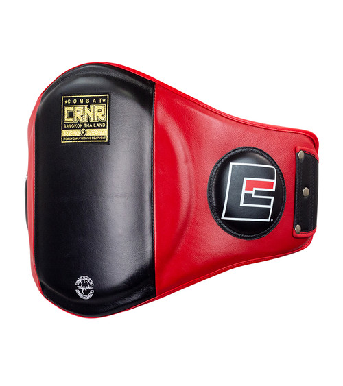 Red and Black HMIT Belly Pad for Muay Thai