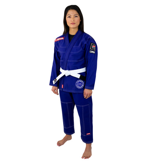 Womens BJJ GI - Royal Blue v6 - FREE WHITE BELT