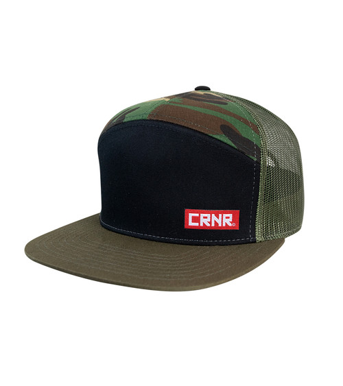 CRNR 7-panel snap back Camo