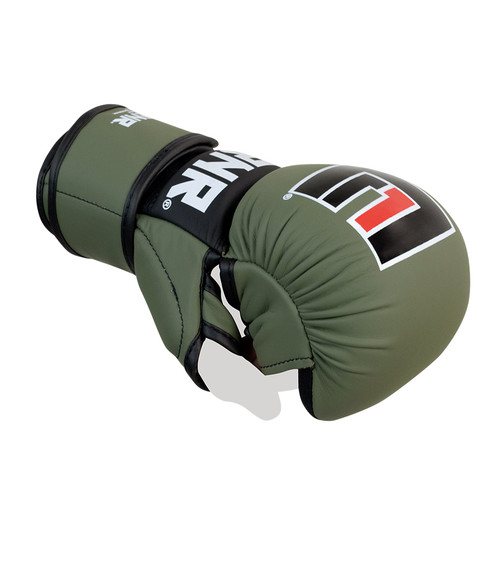 MMA Sparring Glove,  MMA Sparring, MMA Training Gloves, Mixed Martial Arts Glove, MMA Glove, Green MMA Glove