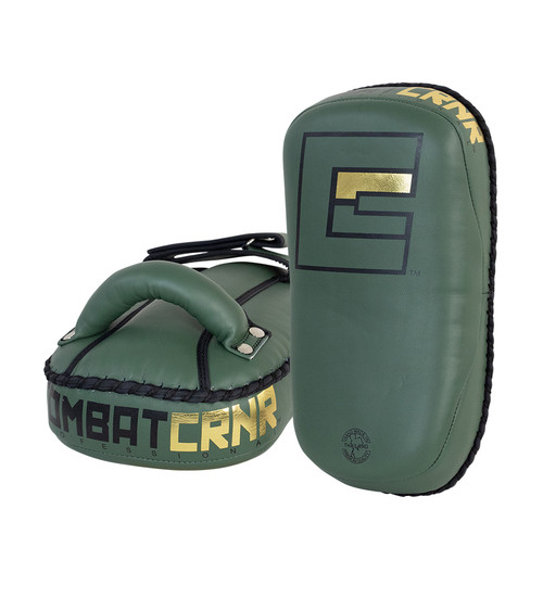 HMIT Thai Pads, Single Strap Thai Pads, Muay Thai Pads, OD Green Thai Pads