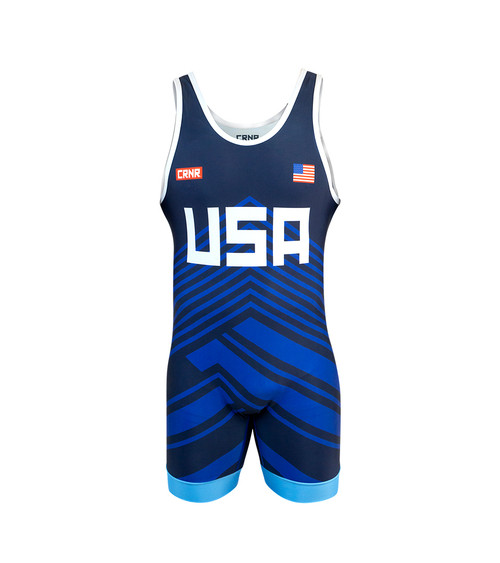 Blue Freestyle Wrestling Singlet, wrestling singlet, youth wrestling singlet,