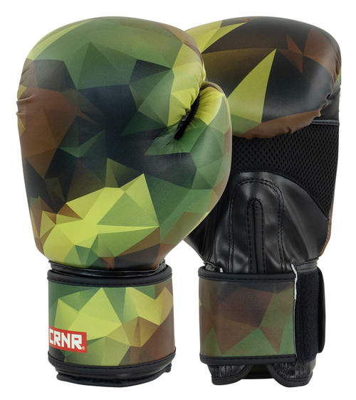 Camo boxing gloves, poly camo boxing gloves, combat corner boxing gloves