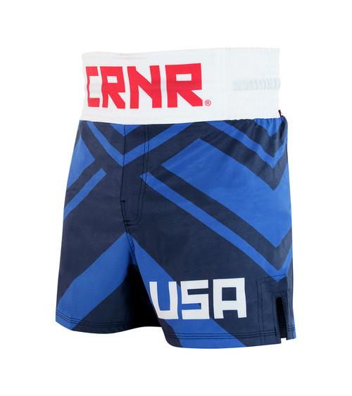USA Boxing Trunks, Blue Boxing Trunks, Blue Boxing Shorts
