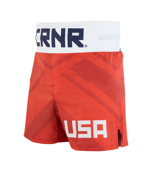 USA Boxing Trunks, Red Boxing Trunks, Red Boxing Shorts