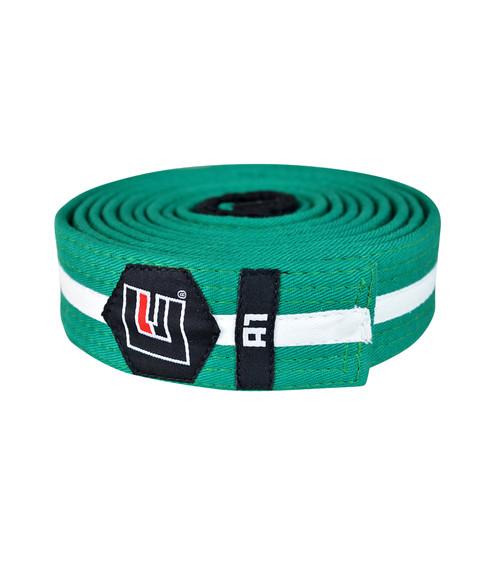 BJJ Belt Green/White