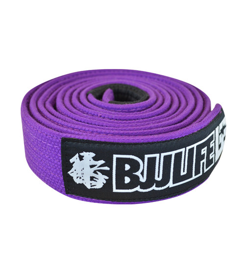 BJJLife Pearl Weave BJJ Belt (Purple)