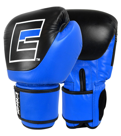 Competition Velcro Boxing Gloves Blue