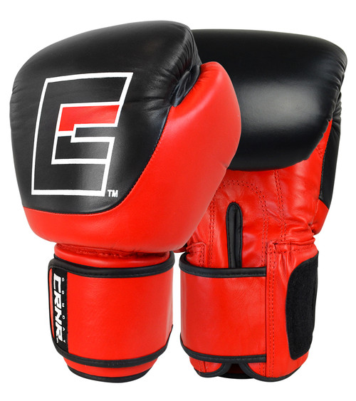 Competition Velcro Boxing Gloves Red