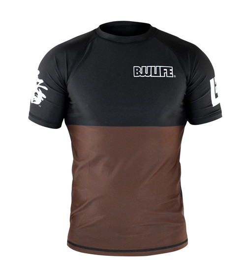 CompLite Ranked Rash Guard | Brown Belt