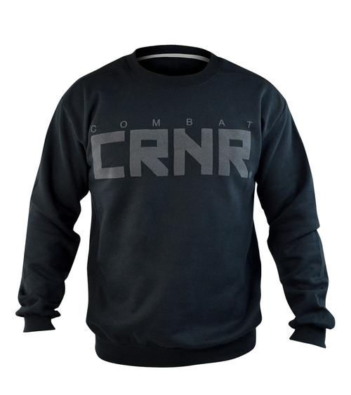 CRNR Big Crewneck Black