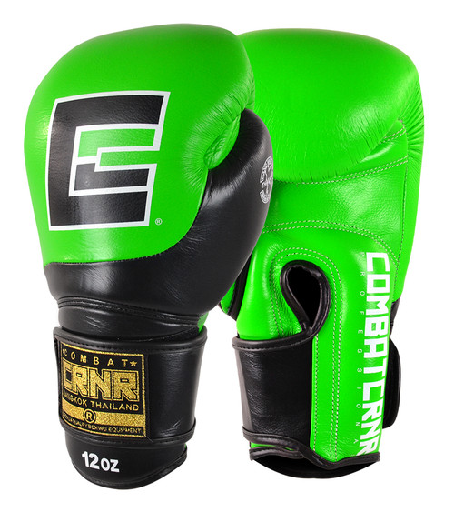 Neon Green Boxing Gloves, Muay Thai Gloves, HMIT Champion Gloves