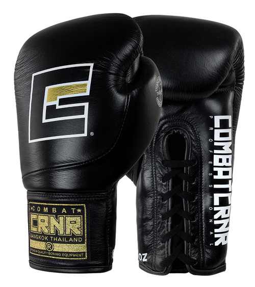 HMIT Lace Up Boxing Gloves Black