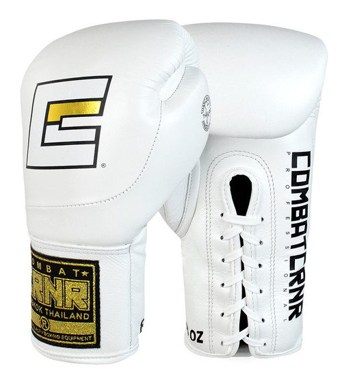 HMIT Lace Up Boxing Gloves White